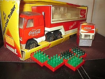 Buddy L Coca Cola Mack Delivery Truck w/ Trailer coke machine soda cases vintage