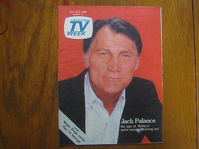 June 12  1983 Chicago Tribune Tv Week  Jack  Palance Ripleys Believe It Or Not