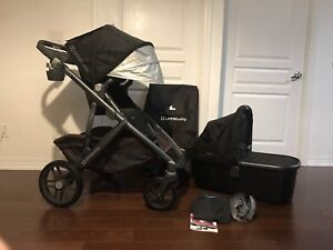 2016 Uppababy Vista stroller bassinet and accessories