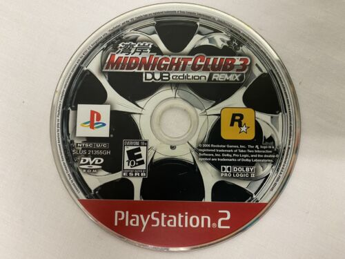 PS2 Midnight Club 3 Dub Edition Remix Sony Playstation 2 Disc Only - $13.99