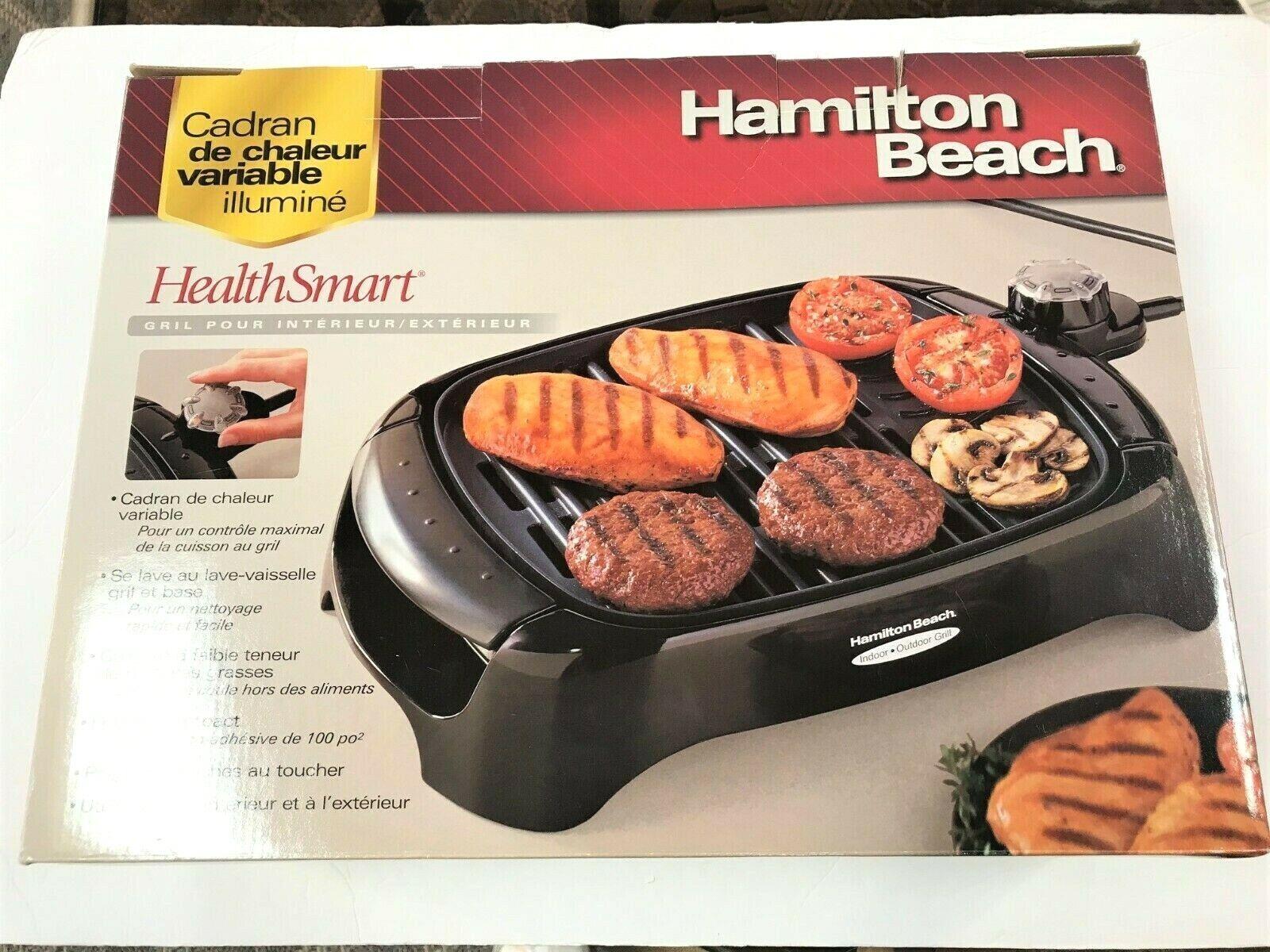 NEW IN BOX   Hamilton Beach HealthSmart Indoor/Outdoor Grill