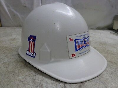 Vintage Jackson White Hard Hat For Construction Or Coal Mining
