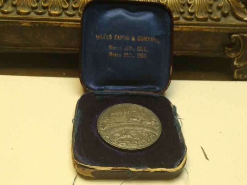 1852-1902 Wells Fargo 50th Anniversary Silver Medallion PLEASE SEE PHOTOS