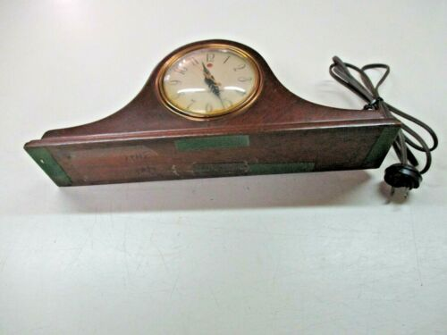 Vtg Gen Electric GE mantel table  Clock TESTED