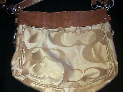 Brown Beige Coach Handbag