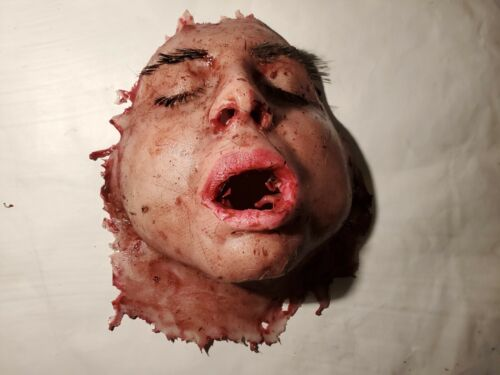 Silicone Movie Prop Skinned Female Face Horror Gore Halloween Haunt Spfx Dead  - $45.00