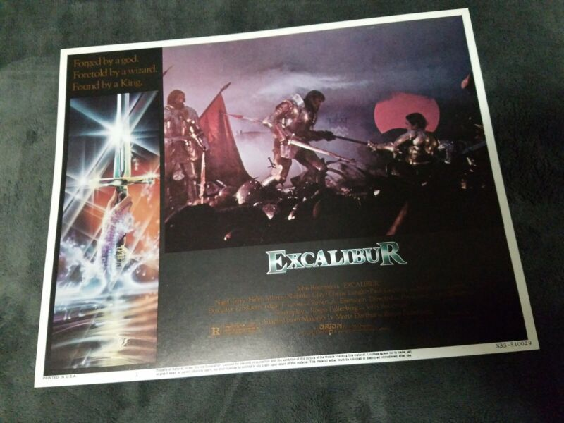 Excalibur lobby cards - Nigel Terry, Helen Mirren  - Set of 8