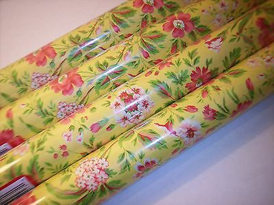 Red and Yellow Daisy Floral Gift Wrap Wrapping Paper 21Ft. 35 Sq. Daisies 1Roll