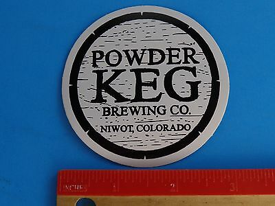 For sale Beer STICKER ~~ POWDER KEG Brewing Co ~ Niwot, COLORADO ** See STORE 4 More ++