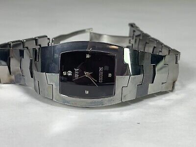 Ladies Rado Jubile Tungsten Steel Black Dial & Diamond Swiss Watch Run Smooth