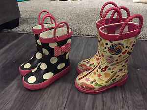 Girls rain boots size 5 and 6