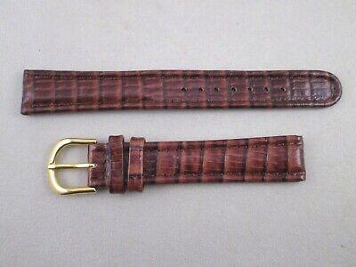 deBeer Europa 16mm brown genuine leather watch band NOS wild lizard grain 54TG 16 Mm Brown Lizard