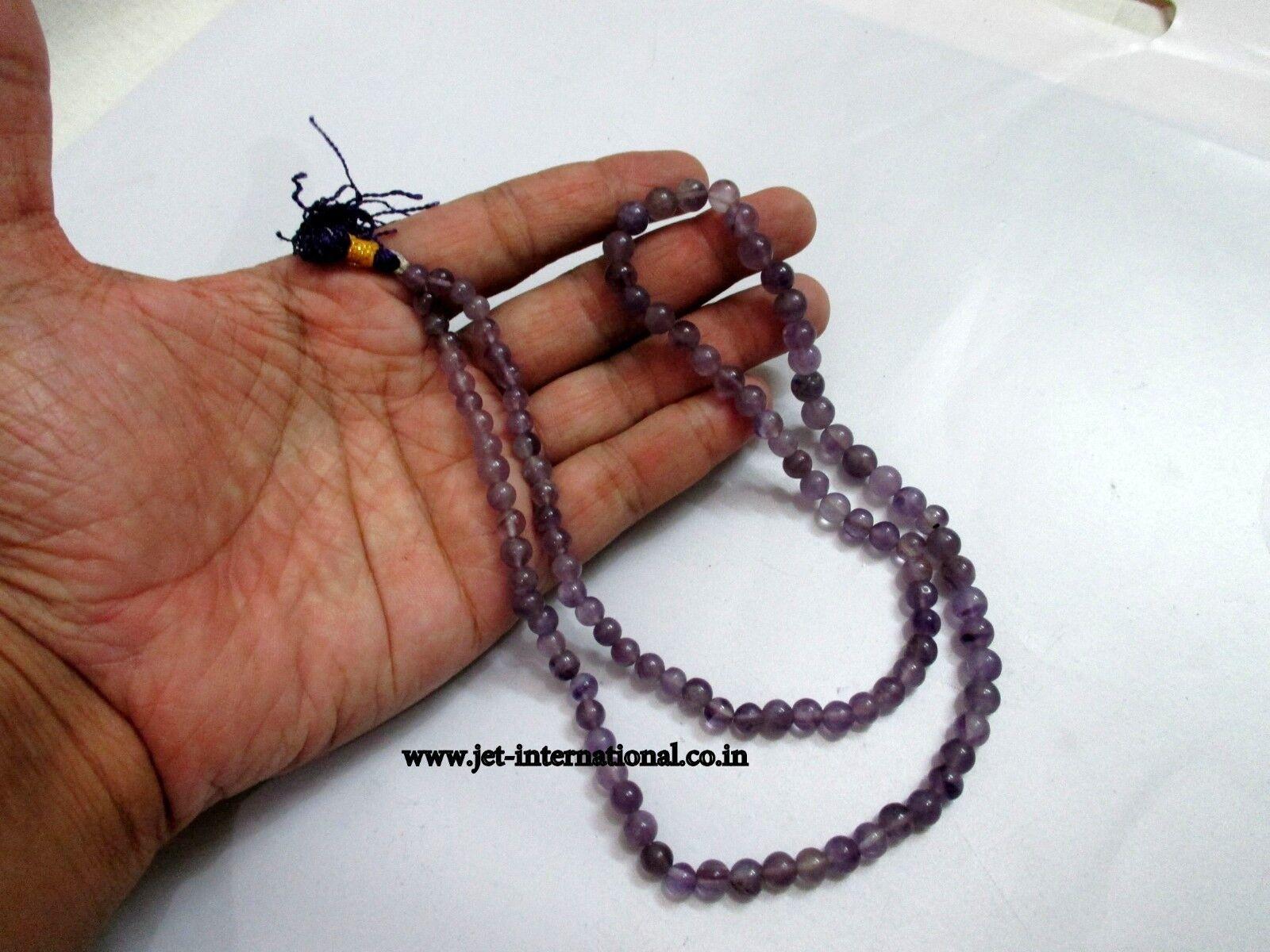 Details about Jet Amethyst Japa Mala 6 mm 108 + 1 Prayer Beads Meditation  Concentration