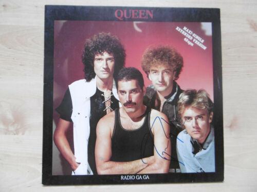 """Roger Taylor Autogramm signed Maxi-Cover """"Queen - Radio Ga Ga"""" Vinyl"""