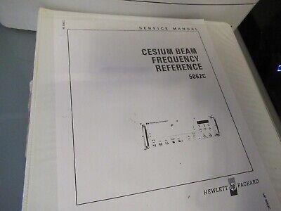 Vintage Manual Hewlett Packard Hp Cesium 5062c Frequency Standard 1975 As Pic