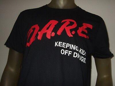 New Mens M-XL Black Dare To Resist Drugs Keep Kids off Drugs D.A.R.E. Shirt Cops](Cop Shirt)