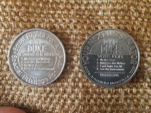 1989 David Duke State Rep & 1990 US Senate Louisiana Republican 39mm Medals