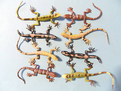 Eidechsen 8erSet 10-15cm Echse Echsen Reptil Salamander Tier Tiere Eidechse neu