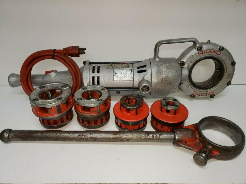 RIDGID 700 PIPE THREADER W / SET OF 4R DIES &  TESTED