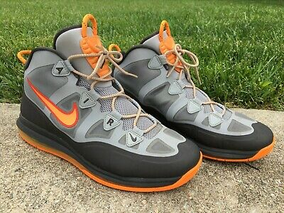 7a3bd957823deb Nike Air Max More Uptempo Fuse 360 Style  555103-006 Black Grey Orange Size  11