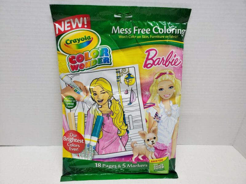 Crayola Color Wonder BARBIE Activity Kit 18 Pages 5 Markers Set ,FREE SHIPPING