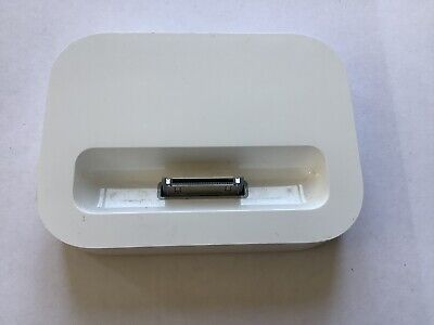 Official Apple iPhone 4 / 4S White Desktop Charger Docking Station Sync Pod