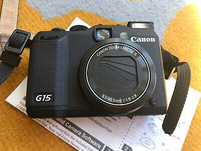 Canon Powershot G15 Digital Compact SLR Camera 12 Megapixel 4x Optical Zoom