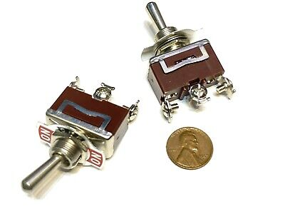2 Pieces - Red 3 Pin Latching Lock Toggle Switch On Off On 12v 125v C41