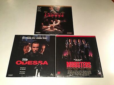 Gangster Crime Drama Laserdisc Lot of 3 Mobsters Little Odessa & The Lost Capone