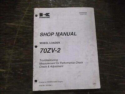 Kawasaki 70zv-2 Wheel Loader Troubleshooting Adjustment Shop Service Manual