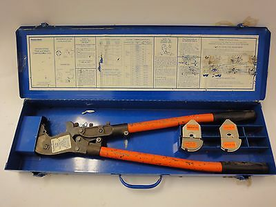 Thomas Betts Tbm6s Manual Crimper With 2 Sets Of Sta-kon Dies R4