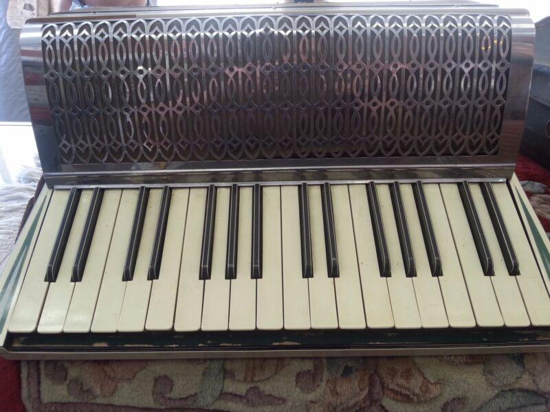 Antique Vintage  Milano Italy piano Accordion With Case