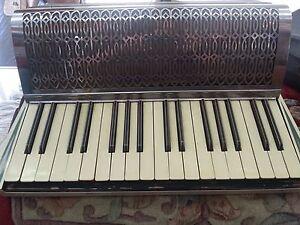 Antique Vintage Milano Italy piano Accordion With Case  eBay