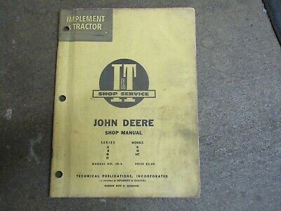 John Deere A B D G H M Mt Tractor I T Repair Manual