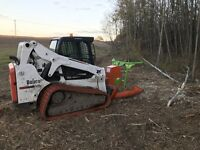 Tree/shrub/brush mulching land clearing