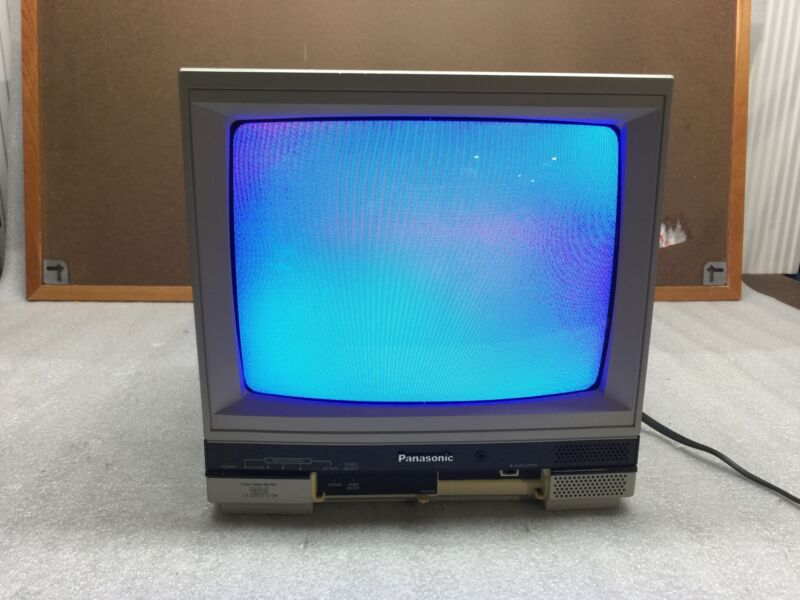 "Panasonic Color Video Monitor Model CT 1384YW 13"" CRT TV - TESTED WORKING"