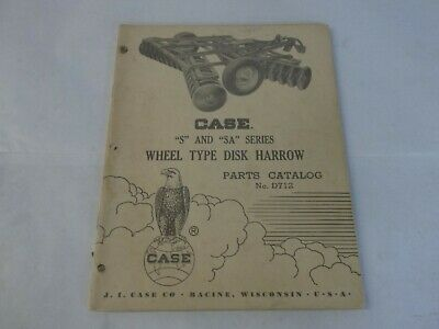 Case S And Sa Series Wheel Type Disk Harrow Parts Catalog