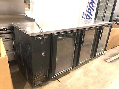 True Tbb-4g 90 3 Glass Door Bottle Cooler Used Refrigerator