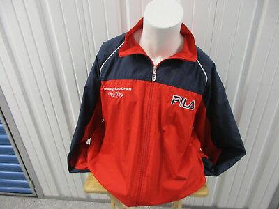 Vintage Fila Nasdaq 100 Championship Miami Open Tennis 2Xl Sewn Red Jacket 2002