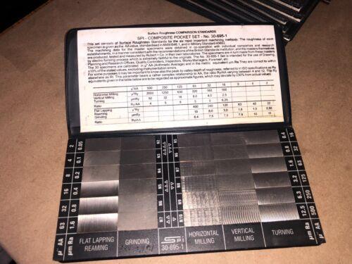 SPI 30-695-1, Surface Roughness Standards Composite Pocket Set Quantity 1