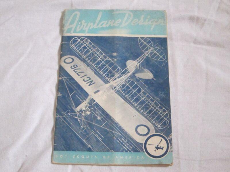 1942 Vintage Boy Scout Manual Booklet Airplane Design