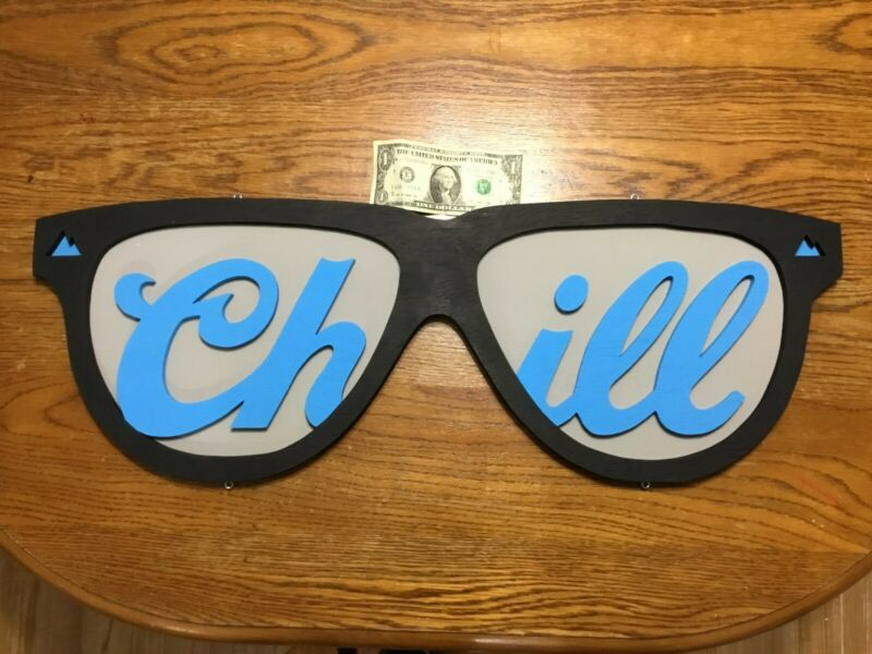 COORS LIGHT SIGN-SUNGLASSES-CHILL-3D WOOD ART