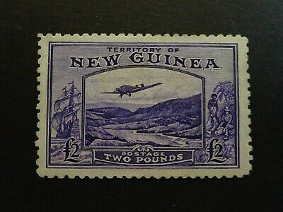 MH 1935 NEW GUINEA SCOTT #C44 TWO POUNDS POSTAGE STAMP