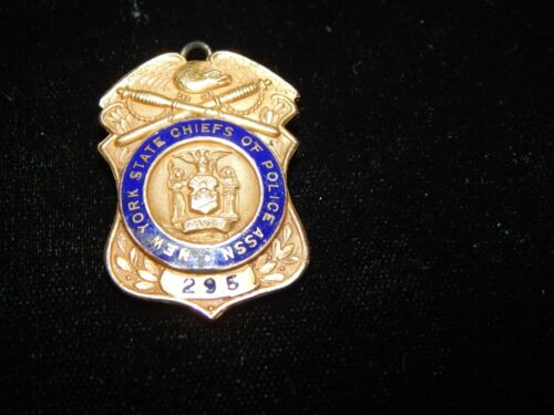 ANTIQUE GOLD FILLED NY NEW YORK CHIEFS OF POLICE ASSN  POLICE  SHIELD / PENDANT