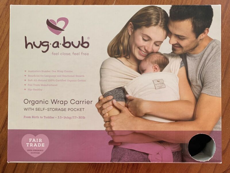 Brand New Hug A Bub Black Organic Baby Carrier Baby Carriers