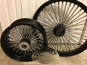 "Harley rims 26"" front and 17"" rear"