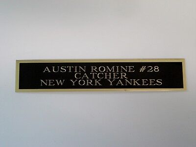 Austin Romine Yankees Autograph Nameplate For A Baseball Bat / Jersey Case 1.5X6