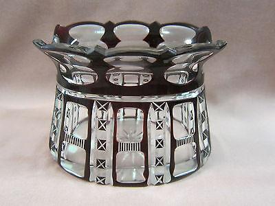 Haida Schönau Vase Blumenvase geschliffen um 1910 rotes klares Glas Böhmen 1021