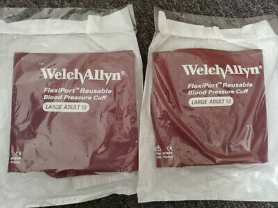 Lot 2 New Welch Allyn Flexiport Reusable Large Adult Size 12 Blood Pressure Cuff