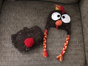 Infant Turkey Hat / Diaper Cover - Thanksgiving photo!